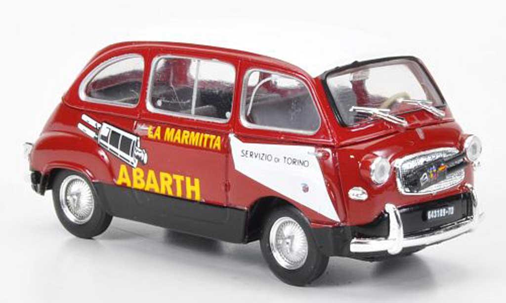 Fiat 600 1/43 Brumm D Multipla Abarth red/white La Marmitta 1960