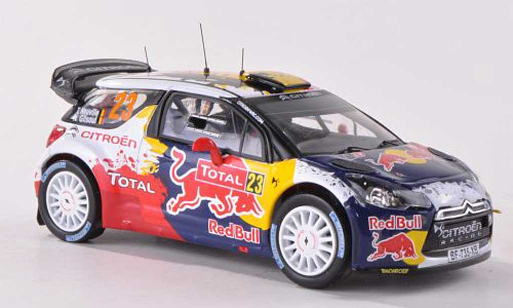 DS Automobiles DS3 WRC 2012 1/43 IXO No.23 Red Bull Rally Monte Carlo T.Neuville/N.Gilsoul miniature