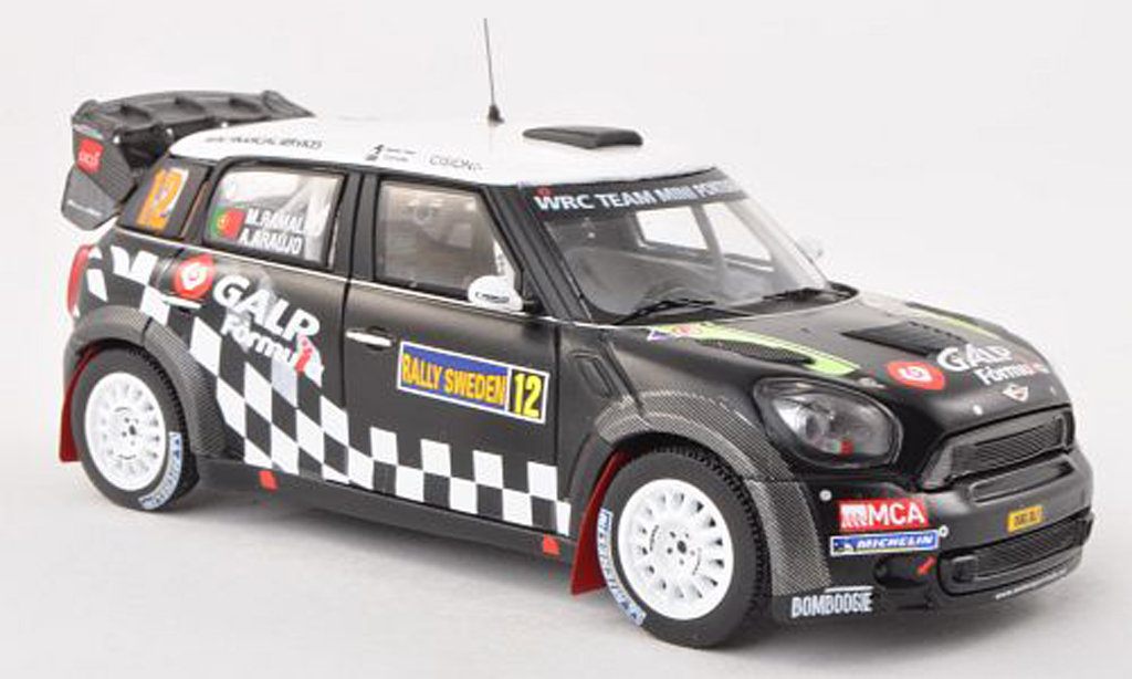 Mini Cooper WRC 1/43 IXO John Cooper Works No.12 Team Mini Portugal Rally Schweden 2012 A.Araujo/M.Ramalho miniature