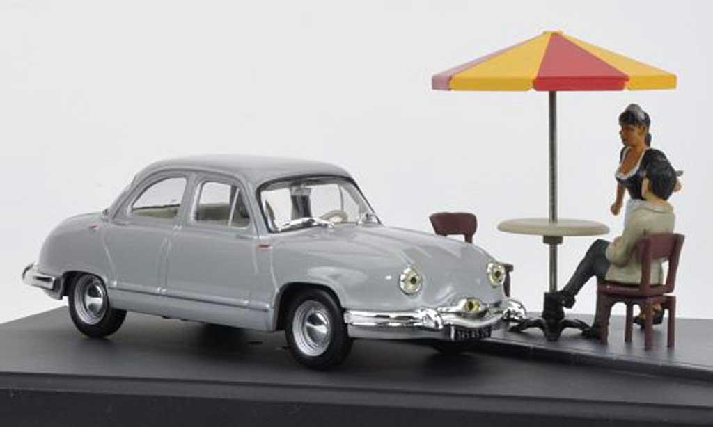 Panhard Dyna Z 1954 1/43 Hachette gray Mini Diorama avec Figuren diecast