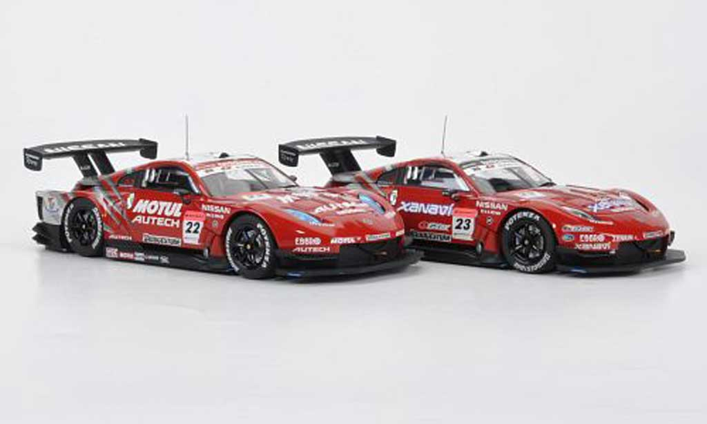 Nissan 350Z 1/43 Ebbro 2er-Set 350 Z: No.22 Motul + No.23 Xanavi Saisonfinale 4. November Super GT500 2007 miniature
