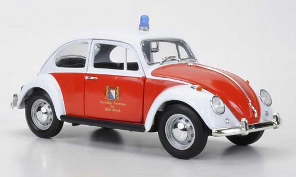 Volkswagen Kafer 1/18 Greenlight Feuerwehr Zurich (CH) 1967 diecast