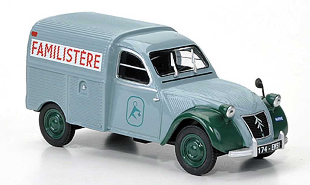 Citroen 2CV 1/43 Eligor AZU Familistere miniature