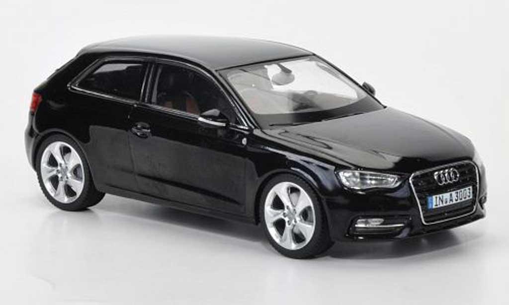 Audi A3 1/43 Schuco nero 2012 miniatura