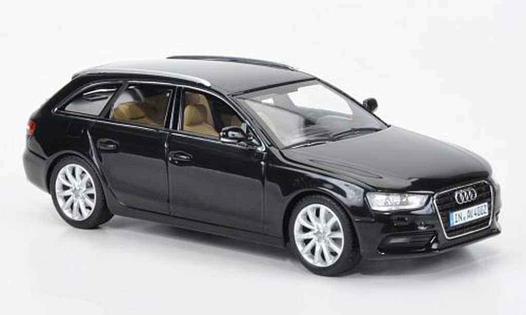 Audi A4 Avant 1/43 Minichamps nero 2012 miniatura