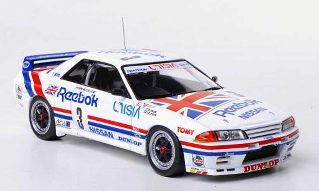 Nissan Skyline R32 1/43 HPI GT-R (R32) No.3 Reebok Hasemi Motor Sport M.Hasemi / A.Olofsson JTC Tukuba 1991 miniature