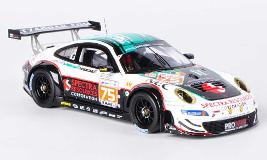 Porsche 997 GT3 RSR 1/43 Spark 2012 No.75 Prospeed Competition A.Al-Faisal / B.Curtis / S.Edwards 24h Le Mans miniature