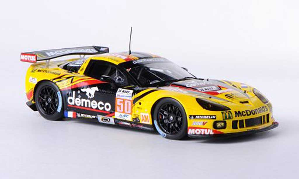 Chevrolet Corvette C6 1/43 Spark C6 ZR1 No.50 Larbre Competition 24h Le Mans 2012 P.Bornhauser/J.Canal/P.Lamy diecast