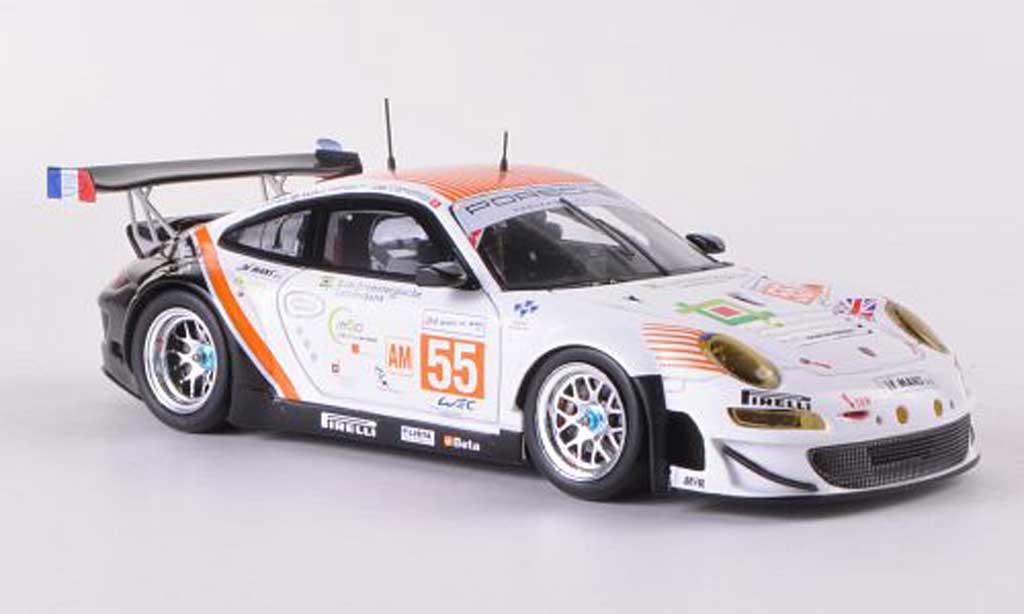 Porsche 997 GT3 RSR 1/43 Spark 2012 No.55 JWA-Avila J.Camathias / P.Daniels / M.Palttala 24h Le Mans diecast model cars