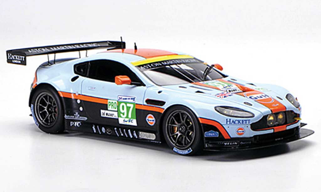 Aston Martin V12 Vantage 1/43 Spark No.97 Gulf Racing 24h Le Mans 2012 miniature