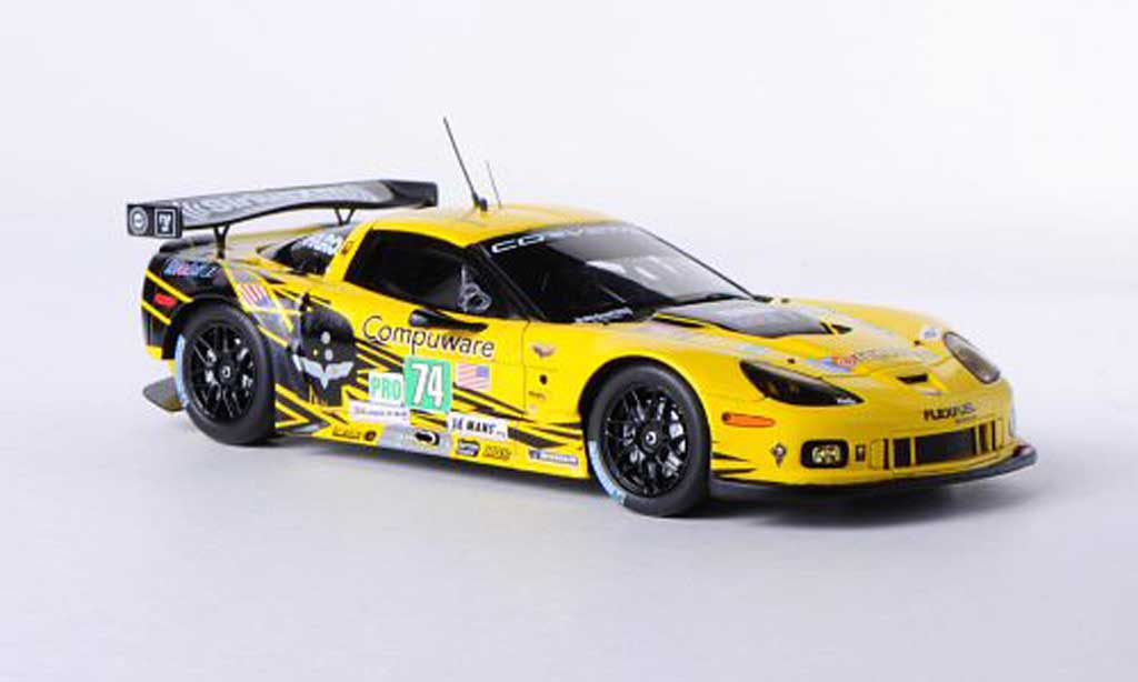 Chevrolet Corvette C6 1/43 Spark ZR1 No.74 Racing 24h Le Mans 2012 O.Gavin/T.Milner/R.Westbrook miniature