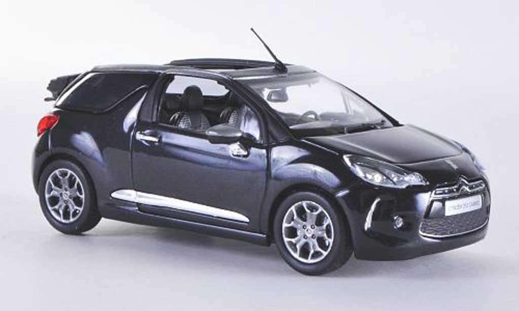 DS Automobiles DS3 1/43 Norev Cabrio noire 2013 miniature