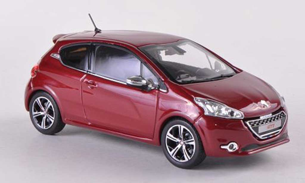 Peugeot 208 GTI 1/43 Norev red 3-Turer 2012 diecast model cars