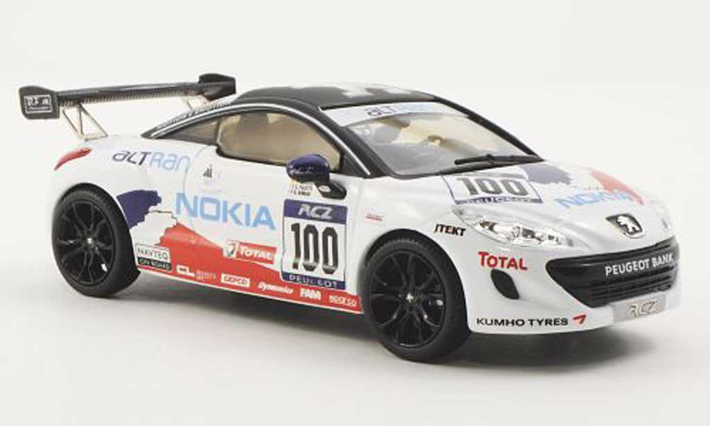 Peugeot RCZ 1/43 Norev No.100 J.Rueplin / P.Englert / S.Palette / O.Roman 24h Nurburgring 2012 miniature