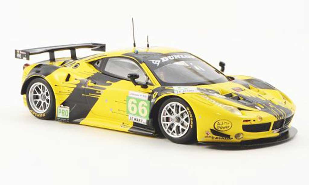 Ferrari 458 Italia GT2 1/43 Fujimi No.66 JMW Racing 24h Le Mans 2012 miniature