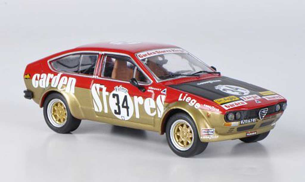 Alfa Romeo GT 2.0 1/43 M4 V 2.0 Alfetta No.34 Spa 1976 diecast model cars