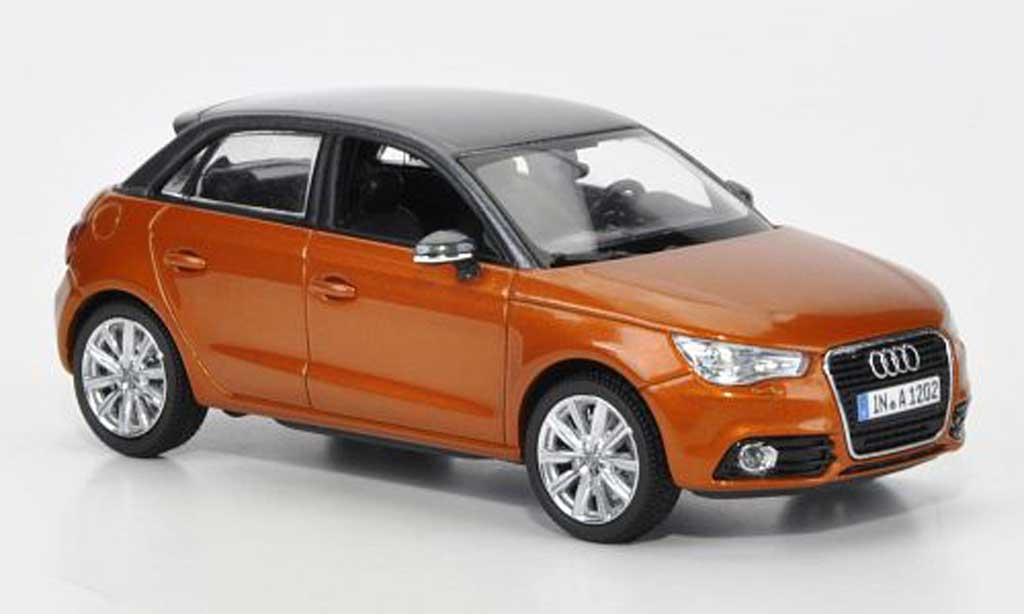 Audi A1 1/43 Kyosho Sportback orange/grise 2012 miniature
