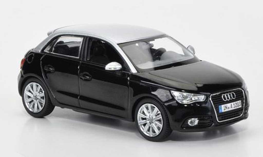 Audi A1 1/43 Kyosho Sportback noire/grise 2012 miniature