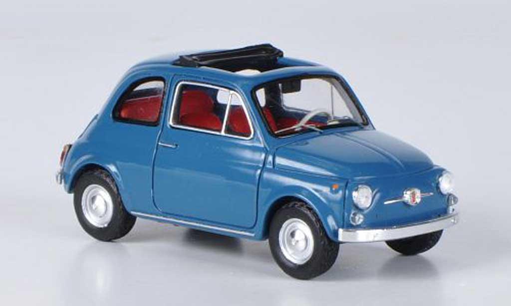 Fiat 500 1/43 Ebbro F bleu 1965 diecast