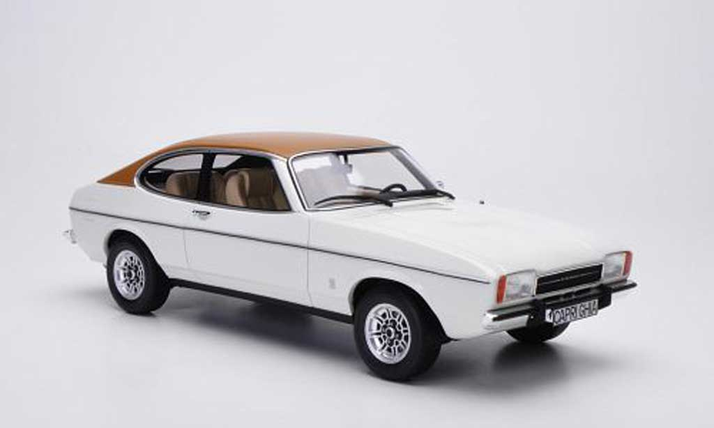 Ford Capri 1/18 Ottomobile Mk2 3.0L V6 Ghia weiss/marron modellautos