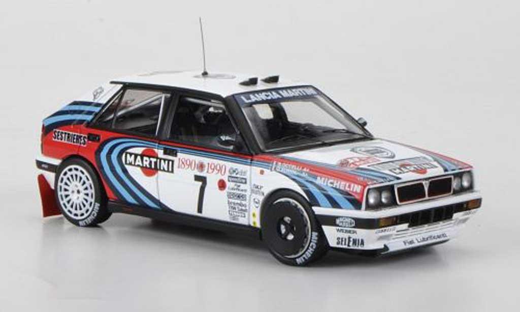 Lancia Delta HF Integrale 1/43 HPI 16V No.7 Martini D.Auriol / B.Occelli Rally Monte Carlo 1990 miniature