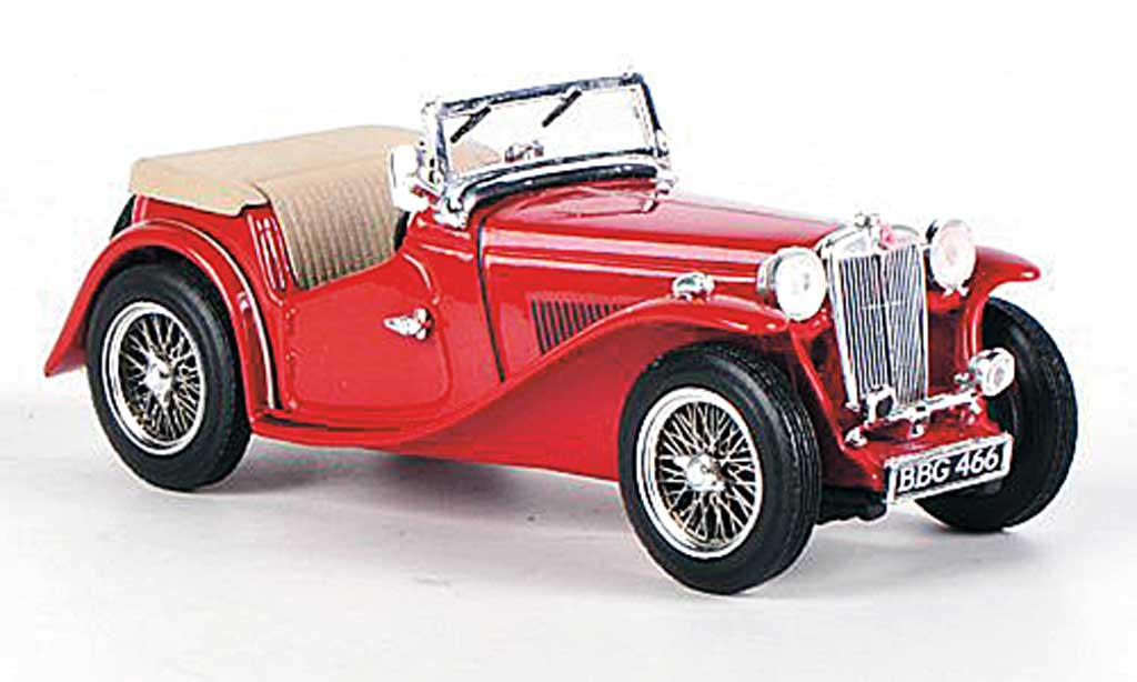 MG TC 1/43 Vitesse offen red 1945 diecast model cars