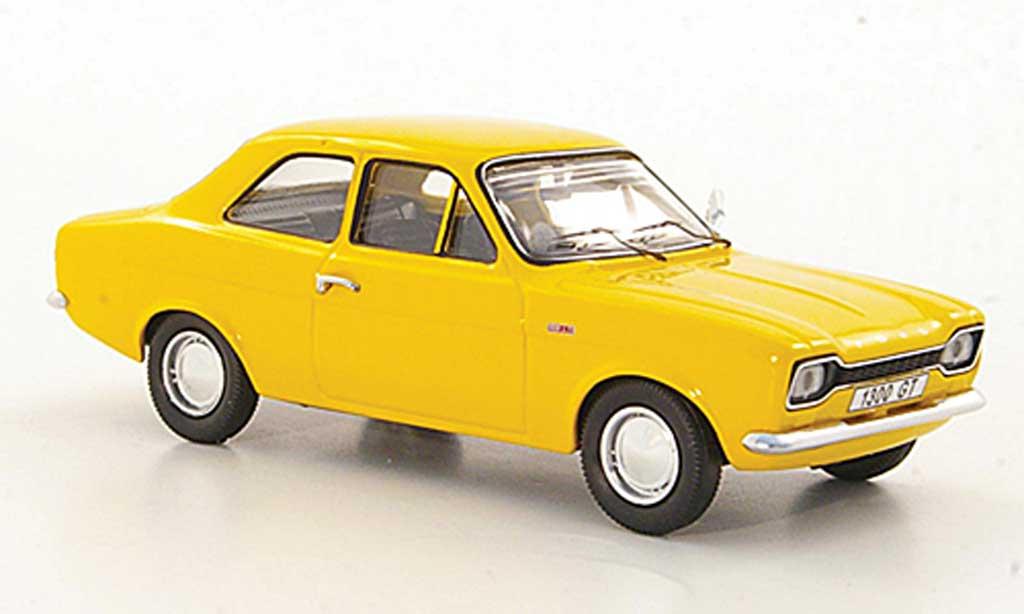 Ford Escort MK1 1/43 Trofeu 1300 GT jaune LHD 1968 miniature