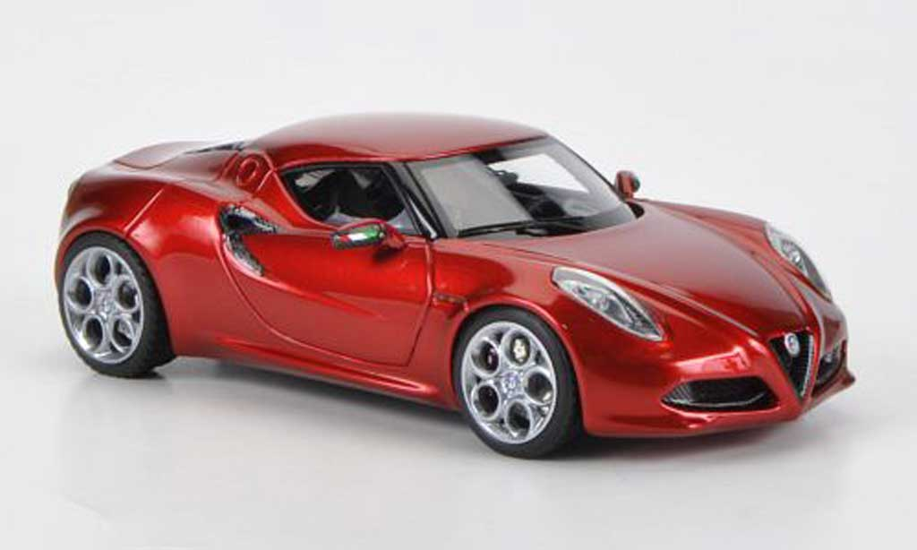 Alfa Romeo 4C 1/43 Look Smart Concept red Villa D'Este 2012 diecast model cars