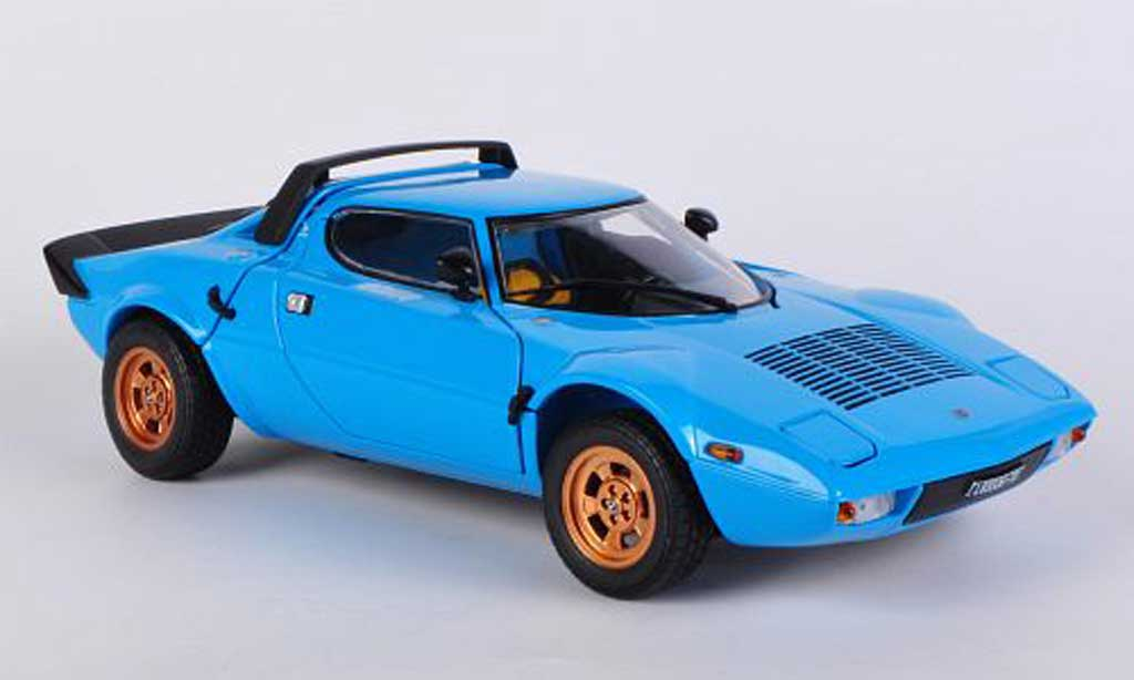 Lancia Stratos 1/18 Sun Star bleu 1975 diecast model cars