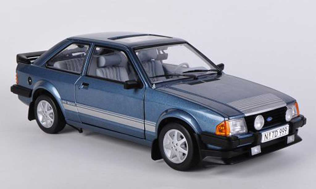 Ford Escort RS 1600 1/18 Sun Star bleu 1984 diecast model cars