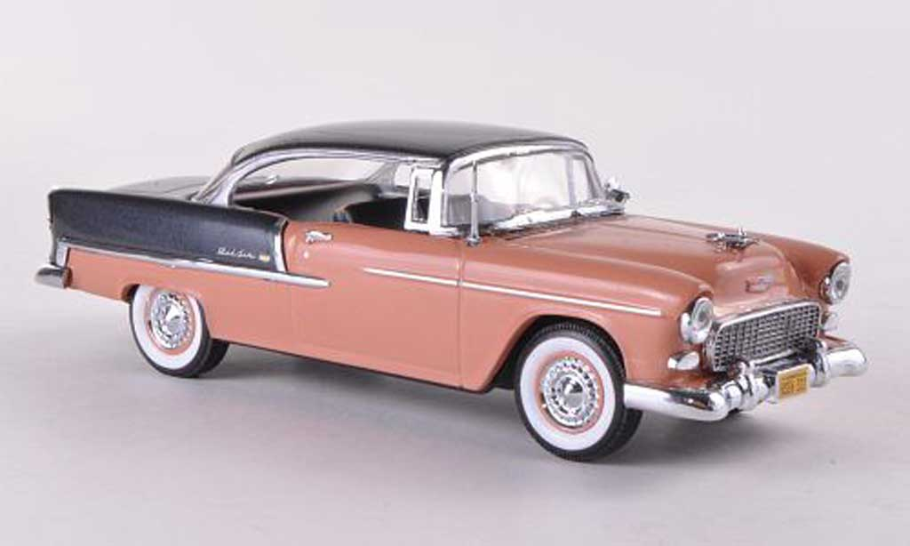 Chevrolet Bel Air 1955 1/43 Vitesse 2-Door Hardtop rouge marron/grise miniature