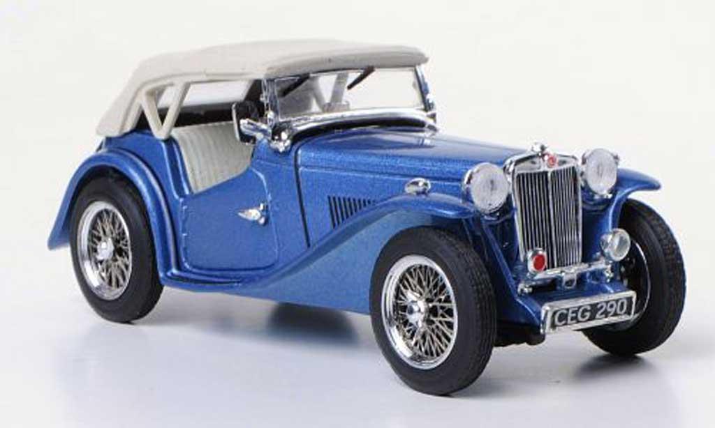 MG TC 1/43 Vitesse bleu RHD miniature
