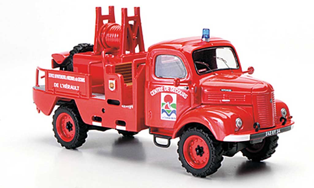 Hotchkiss PL 50 1/43 Eligor 4x4 CCFM Service Departemental d'Incendie & de Secours de l'Herault Feuerwehr miniature