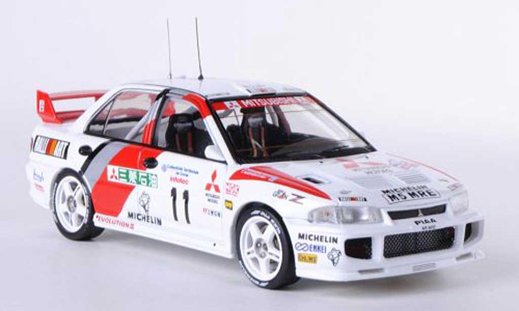 Mitsubishi Lancer Evolution III 1/43 HPI No.11 RalliArt T.Mekinen / S.Harjanne Tour de Corse 1995 miniature