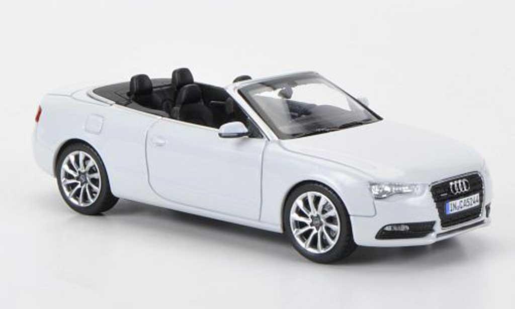 Audi A5 1/43 Norev Cabriolet blanche 2011 miniature