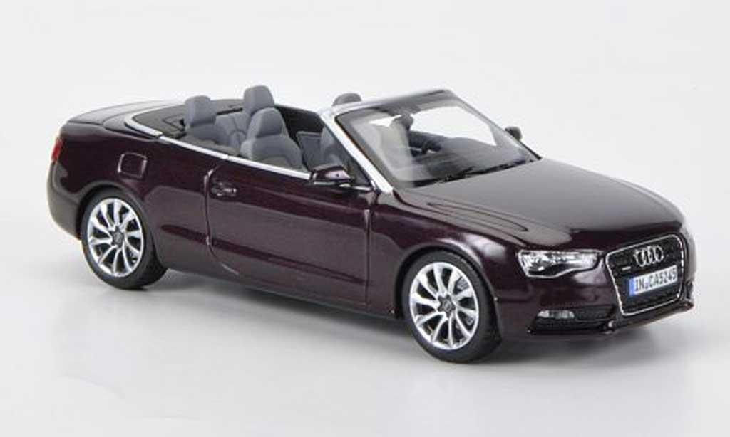 Audi A5 1/43 Norev Cabriolet rouge 2011 miniature