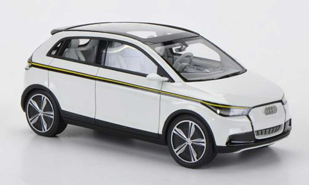 Audi A2 1/43 Look Smart Concept white diecast model cars