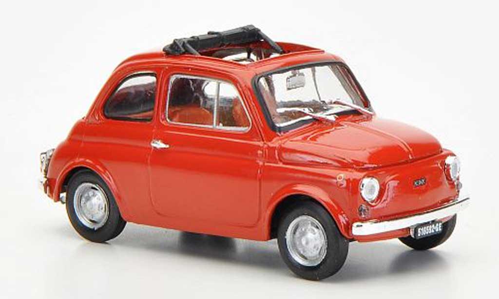Fiat 500 R 1/43 Brumm R redbrown ge?ffnetes Faltdach 1972 diecast model cars