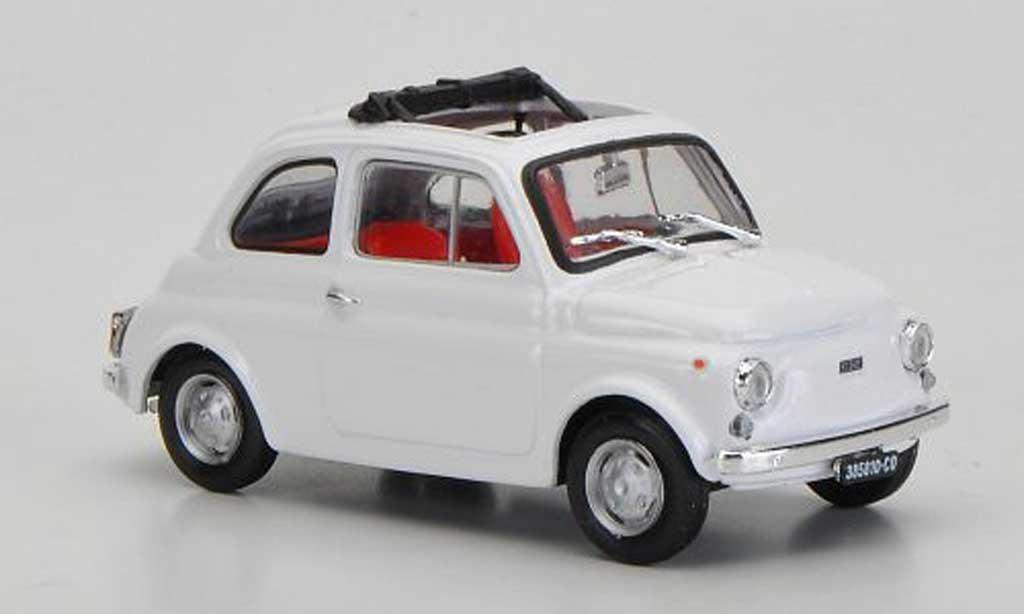 Fiat 500 R 1/43 Brumm R white ge?ffnetes Faltdach 1972 diecast model cars