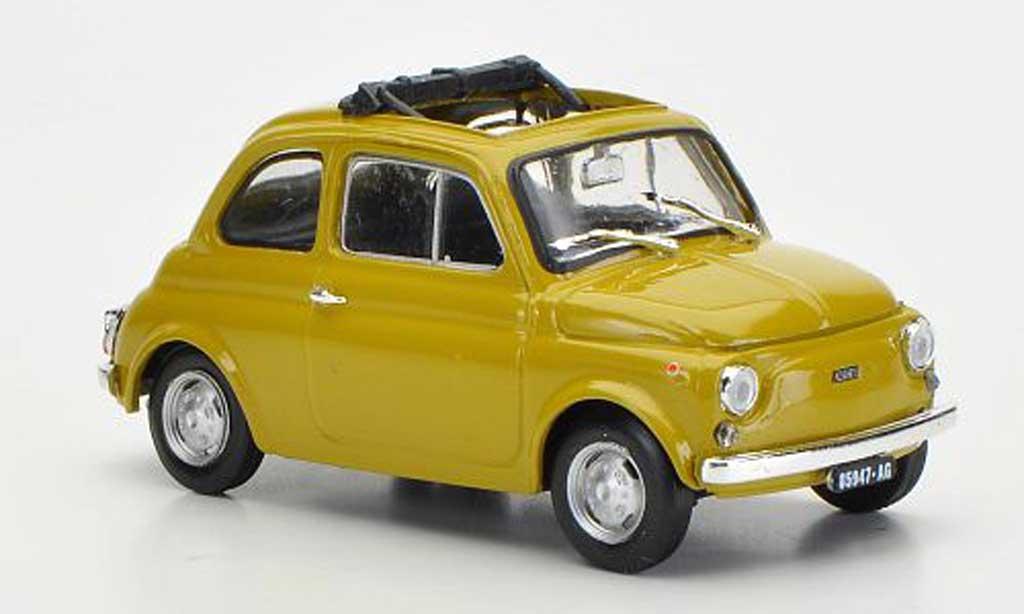 Fiat 500 R 1/43 Brumm R senf ge?ffnetes Faltdach 1972 diecast model cars