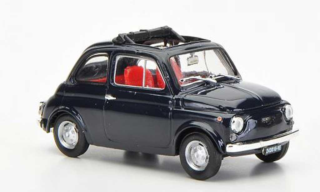 Fiat 500 R 1/43 Brumm R bleu ge?ffnetes Faltdach 1972 diecast model cars