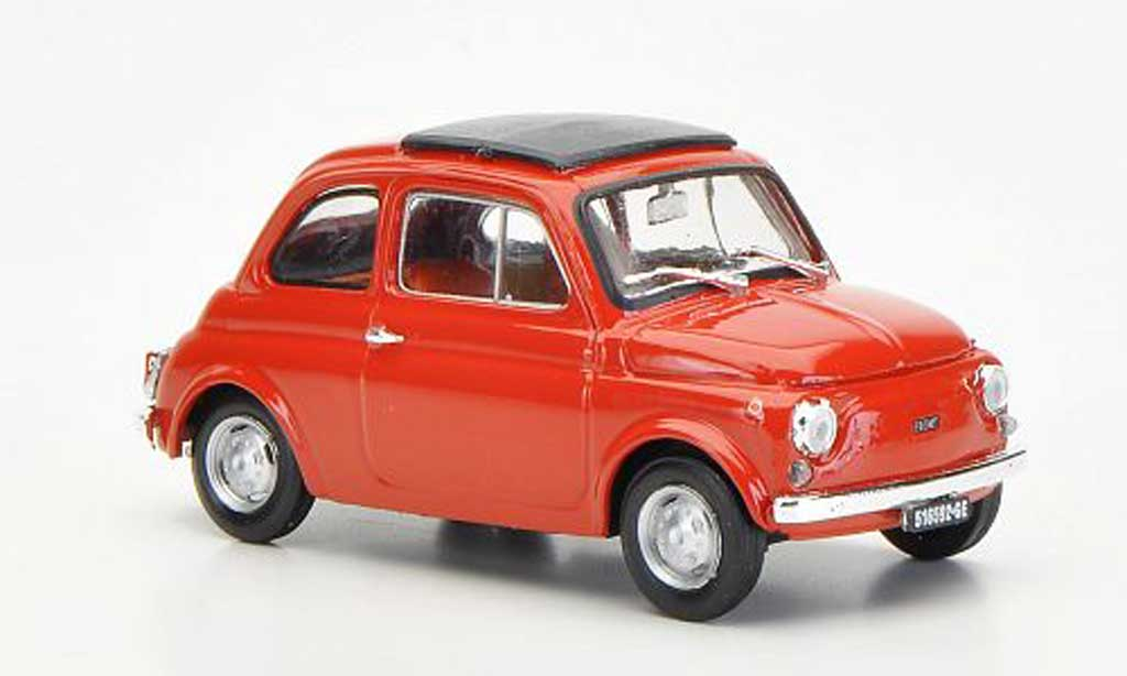 Fiat 500 R 1/43 Brumm redbrown geschlossenes Faltdach 1972 diecast