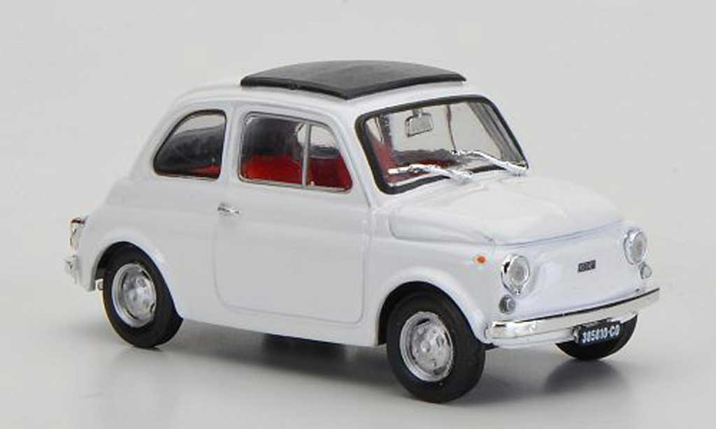 Fiat 500 R 1/43 Brumm white geschlossenes Faltdach 1972 diecast