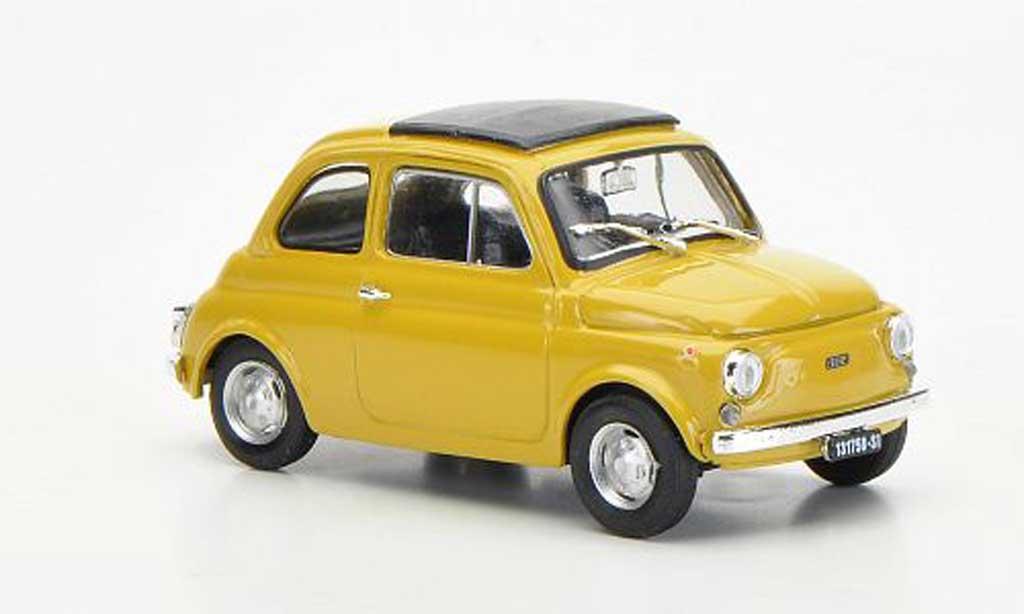 Fiat 500 R 1/43 Brumm beige geschlossenes Faltdach 1972 diecast