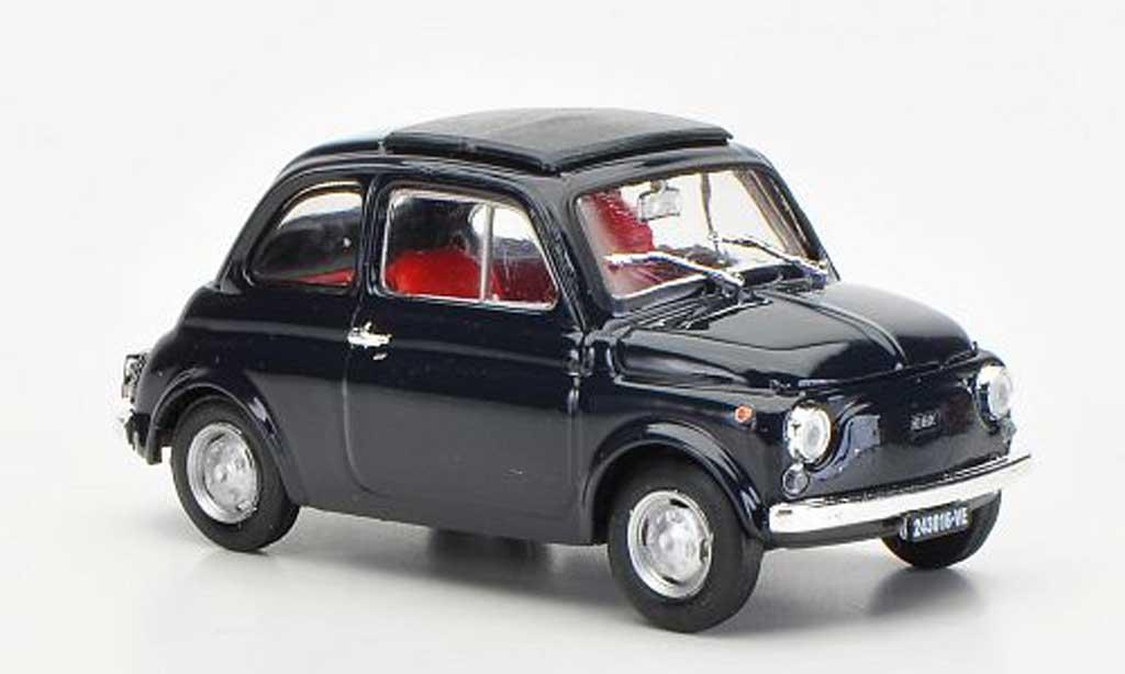 Fiat 500 R 1/43 Brumm R bleu geschlossenes Faltdach 1972 diecast model cars