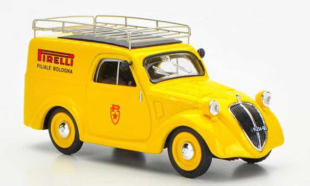 Fiat 500 B 1/43 Brumm Furgoncino Pirelli Filiale di Bologna Assistenza Mille Miglia 1950 modellautos