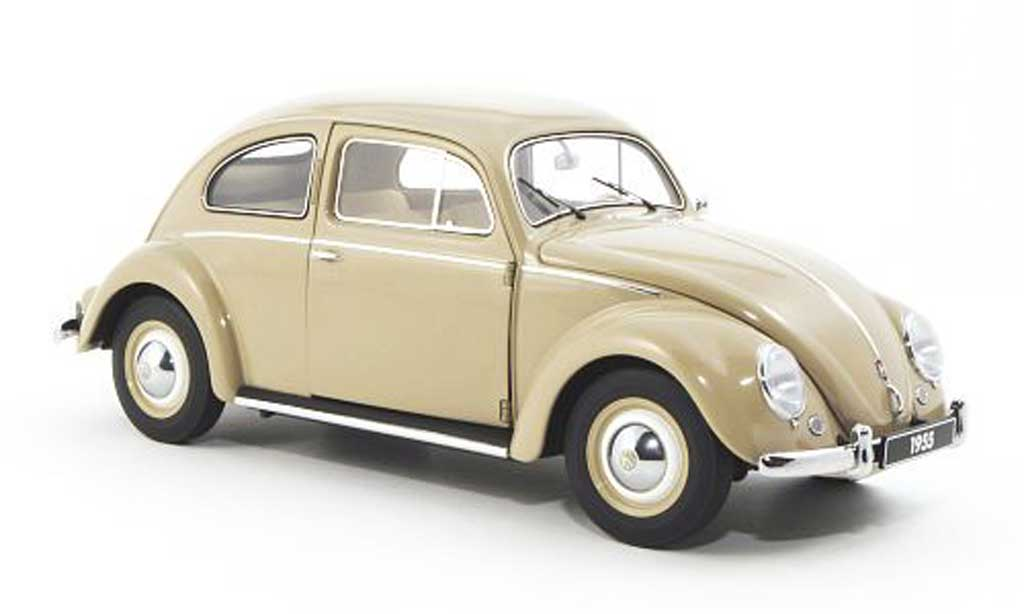Volkswagen Kafer 1/18 Autoart beige 1955 miniature