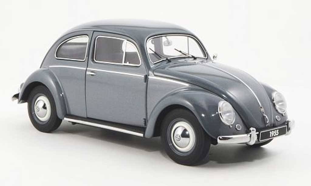 Volkswagen Kafer 1/18 Autoart bleugrise 1955 miniature