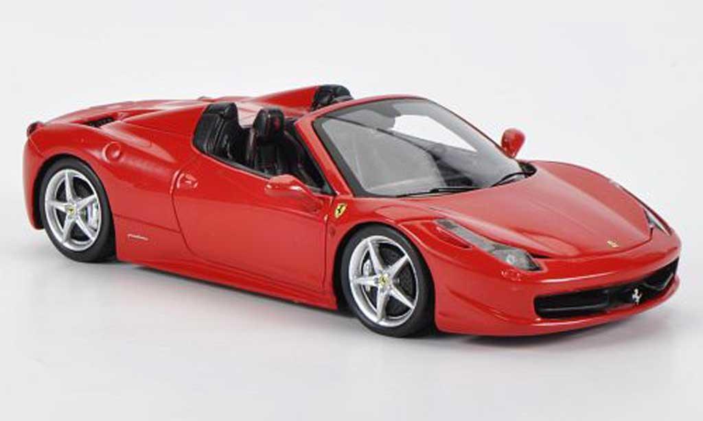 Ferrari 458 Italia Spider 1/43 Fujimi rouge 2012 miniature
