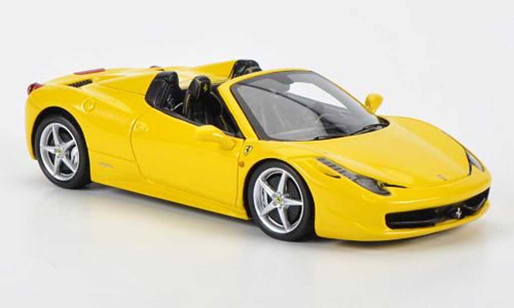 Ferrari 458 Italia Spider 1/43 Fujimi jaune 2012 miniature